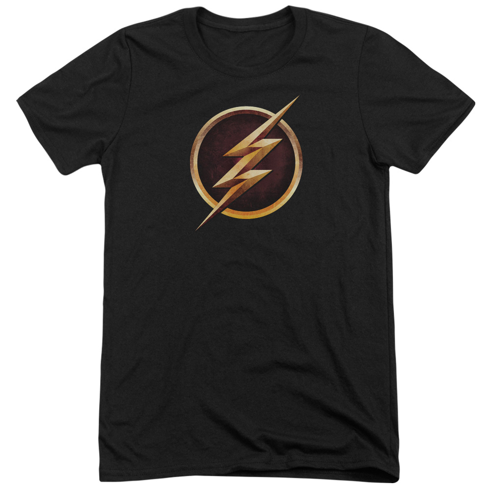 The Flash Chest Logo Mens Tri-Blend Short Sleeve Shirt