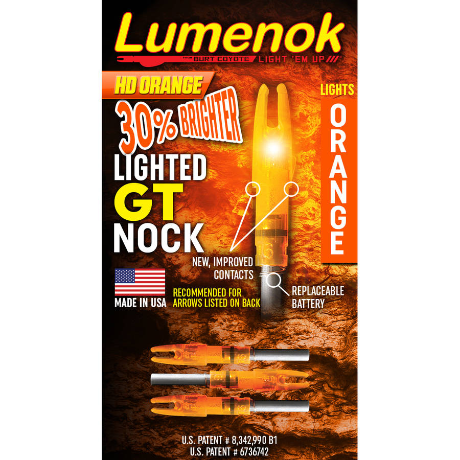 Gold Tip Lumenok Arrow Nock, 3-Pack
