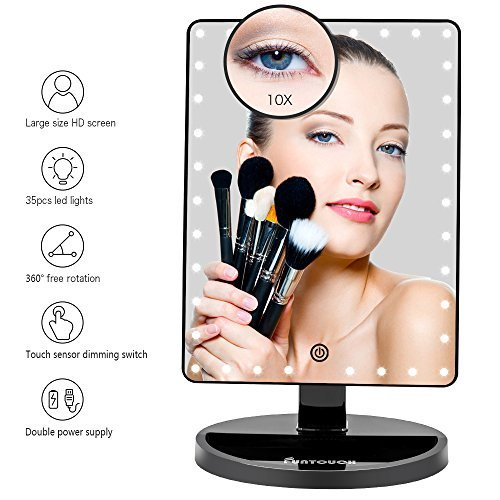 Large Lighted Vanity Makeup Mirror X, Best Makeup Mirrors With Magnification