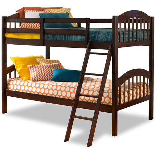 Storkcraft Long Horn Twin Over Twin Solid Hardwood Bunk Bed, Espresso