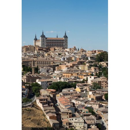The Alcazar Towering Above the Rooftops of Toledo, Castilla La Mancha, Spain, Europe Print Wall Art By Martin - Above Rooftop Halloween