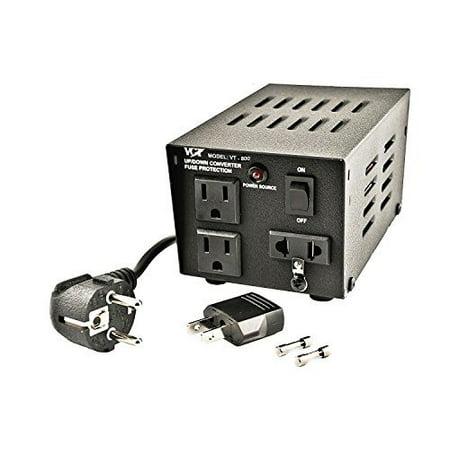 VCT VT-800 Heavy-Duty Voltage Transformer 800 Watt Step Up/Down Converter for 110 Volt - 220V / 240