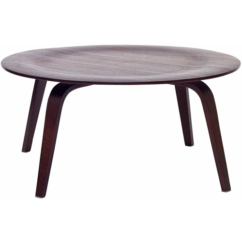Modway Plywood Durable Round Coffee Table, Multiple Colors