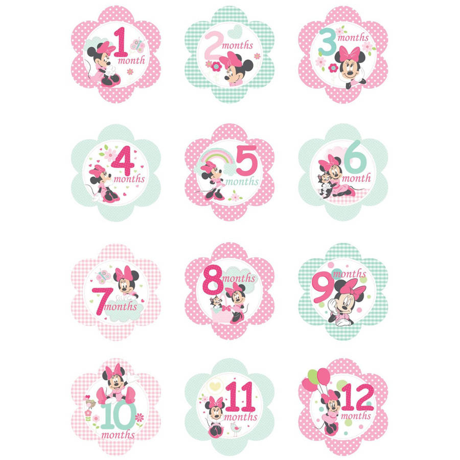 Kids Preferred Disney Baby Minnie Mouse Milestone Flower Stickers