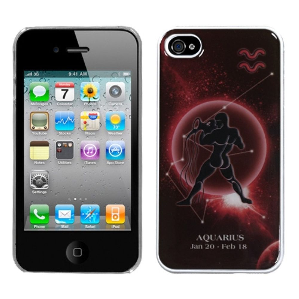 Insten Aquarius Horoscope Collection Dream Back Case For iPhone 4 4S - image 3 of 3