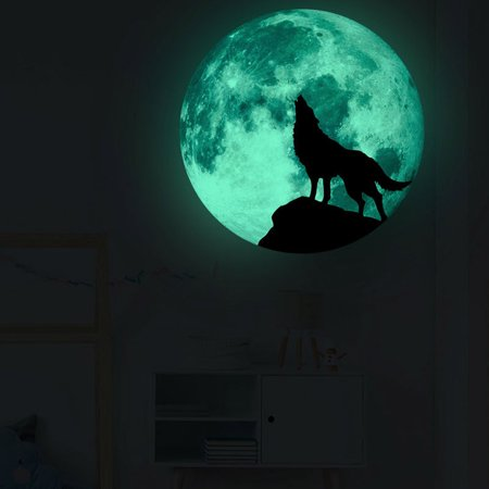 Creative Halloween Arts And Crafts (Creative Luminous Moon Wall Stickers Halloween Decoration Stickers Luminous)