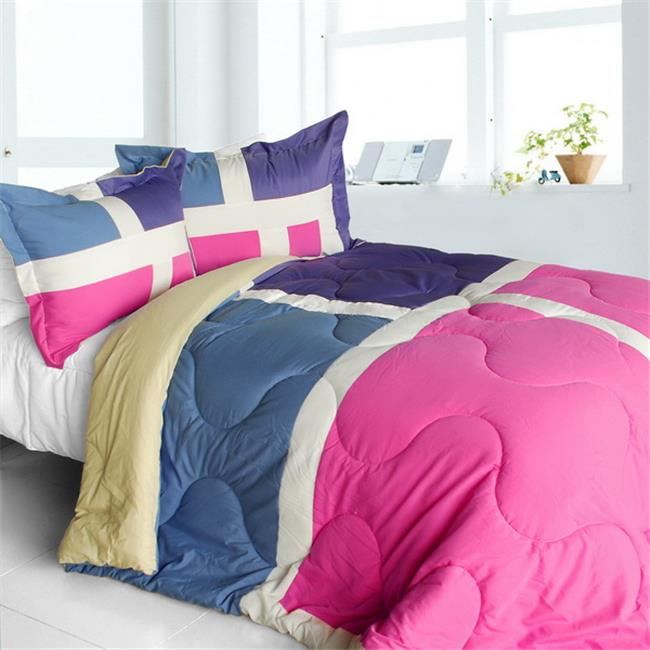ONITIVA-CFT01060-1BRK-MPTP Nice Tamil - Quilted Patchwork Down Alternative Comforter Set  Twin Size - Pink