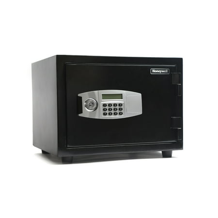 Rated Records Safes (Honeywell 2 Hour Fire Rated Water Resistant Steel Security Safe with Digital Dial Lock, 1.07 Cu Ft )