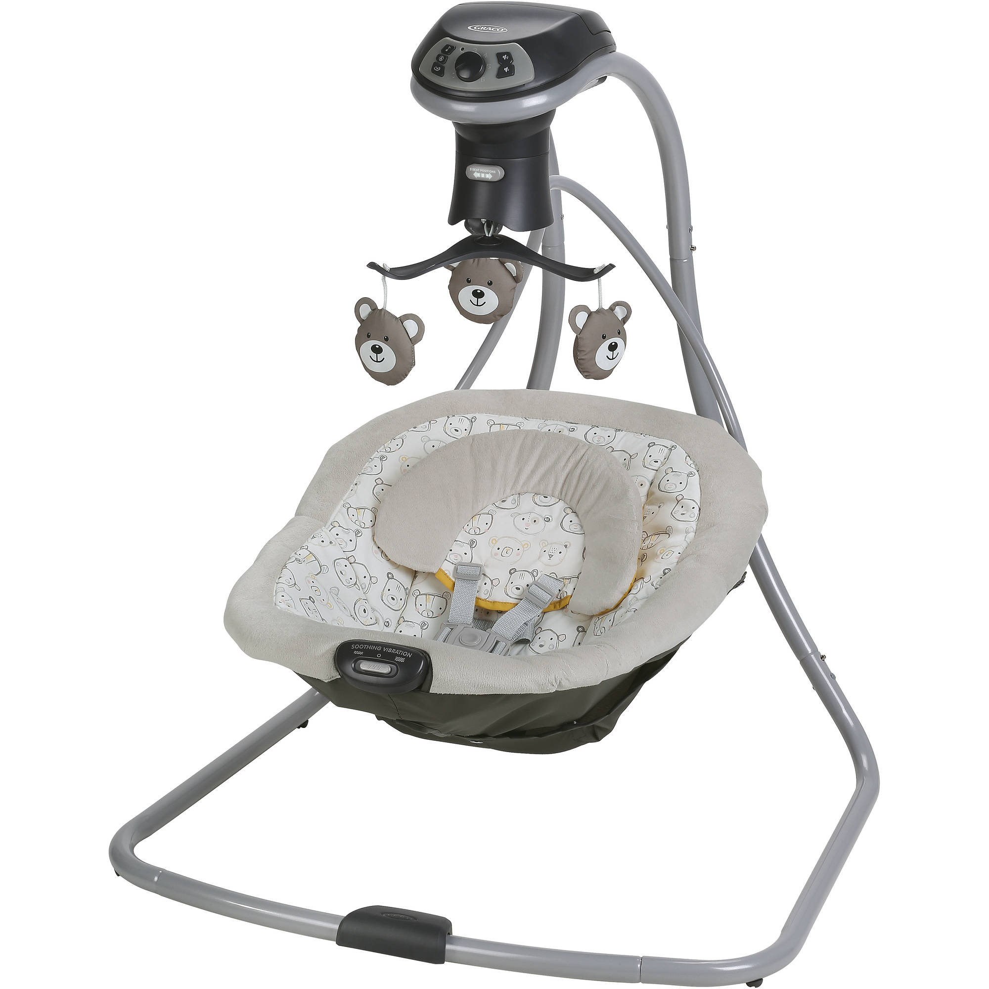 Graco Simple Sway LX with Multi-Direction Baby Swing, Teddy by Graco