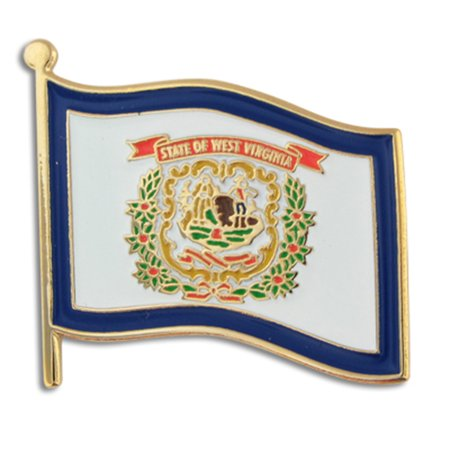 West Virginia US State Flag WV Enamel Lapel Pin 1