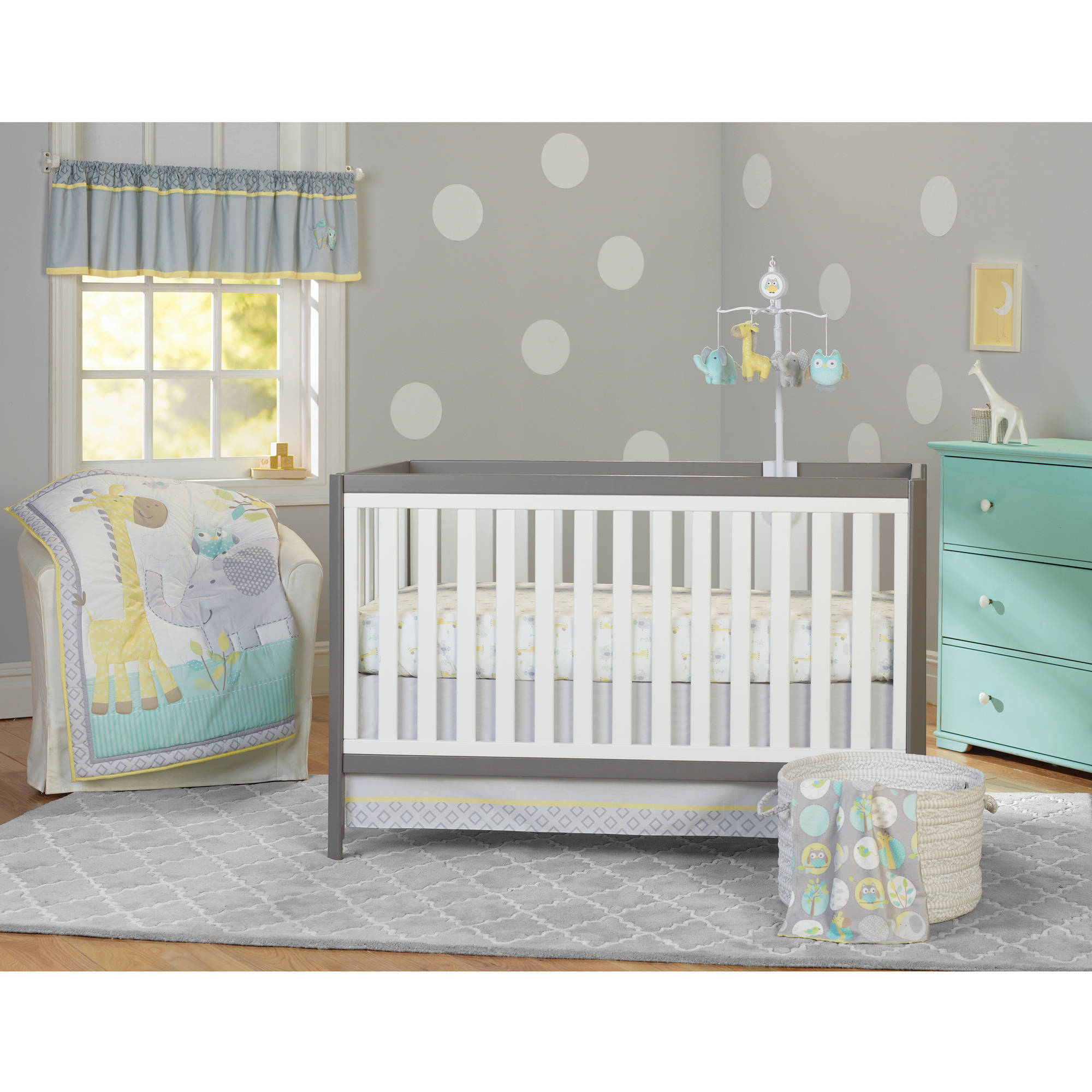 garanimals animal crackers 3-piece crib bedding set - walmart