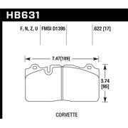 Hawk 09-11 Corvette Z06/ZR-1 (w/Carbon Ceramic Brake Package and Iron rotors) Performance Ceramic St