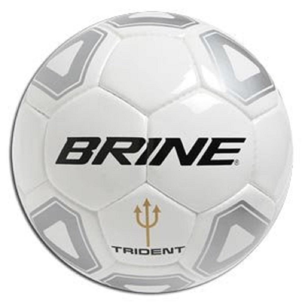 Brine Trident Soccer Ball Size 5 White & Silver Checkered