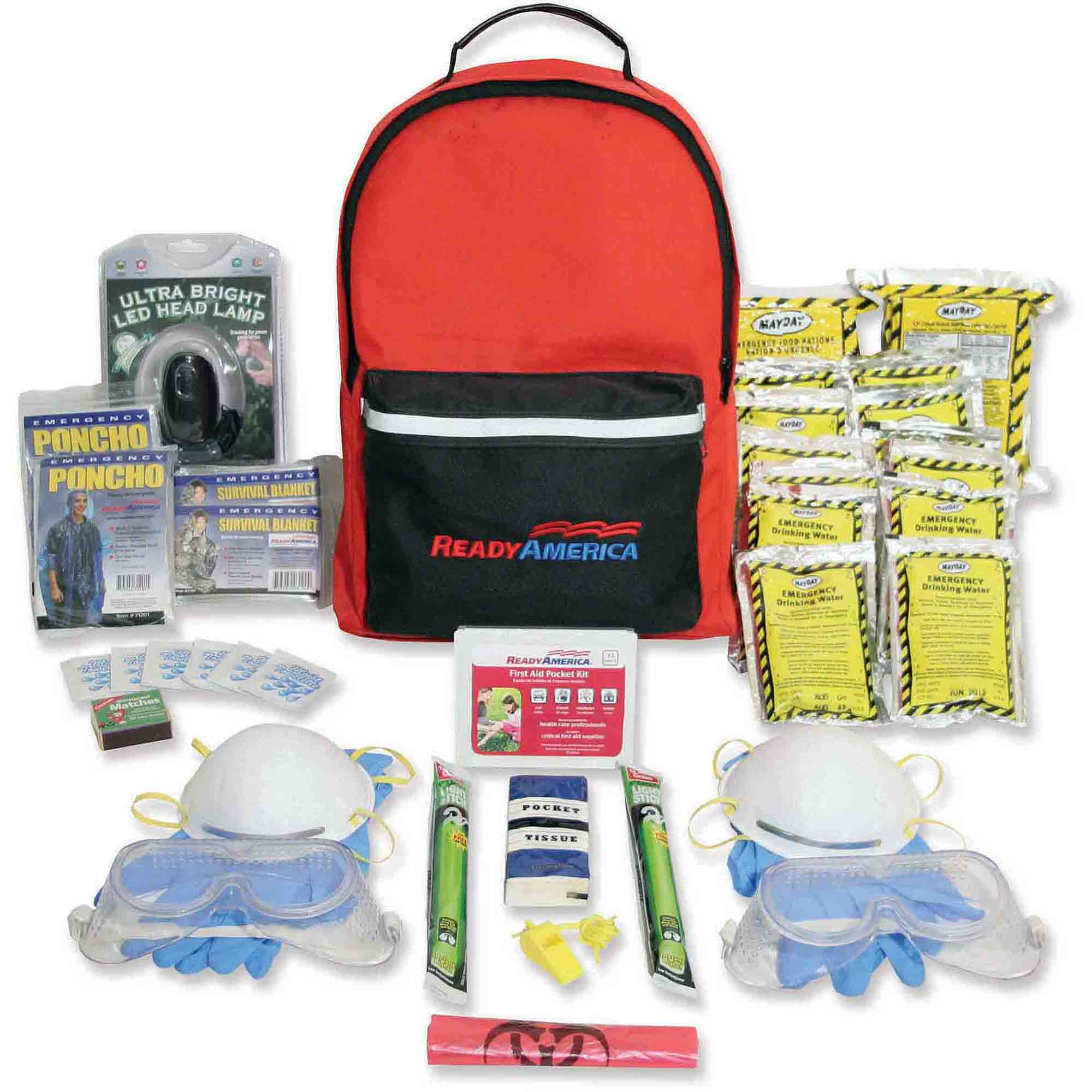 Ready America Emergency Grab 'n' Go 2-Person Fire/Blackout Kit
