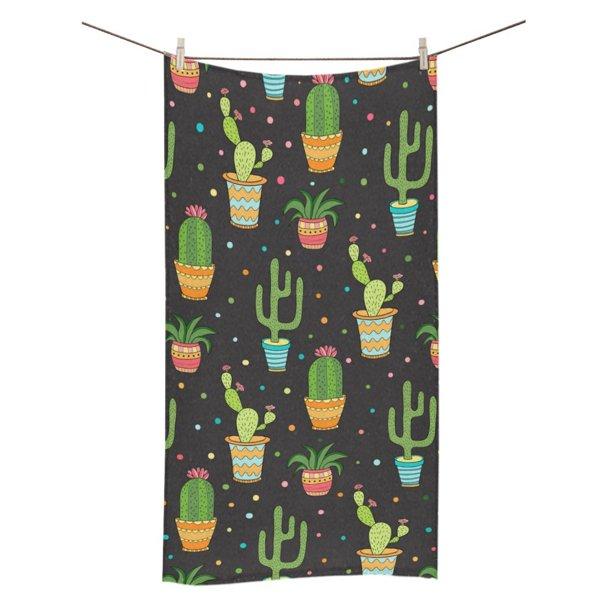 Mkhert Succulent And Cactus Seamless Pattern Bath Towel Shower Towel Wash Cloth Face Towels 16x28 Inches Walmart Com Walmart Com