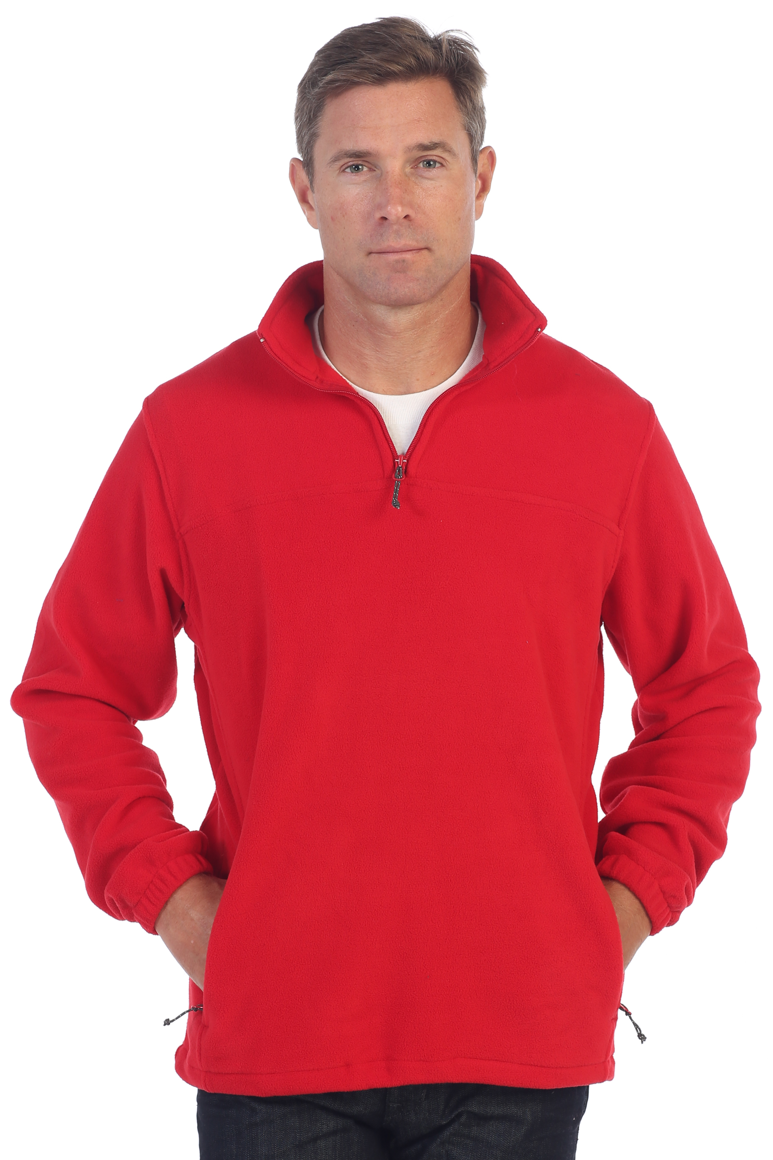 Gioberti Mens Half Zip Polar Fleece Jacket