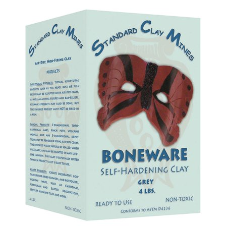 Sculpture House Self-Hardening Non-Toxic Boneware Clay, 50 lb Box, Gray
