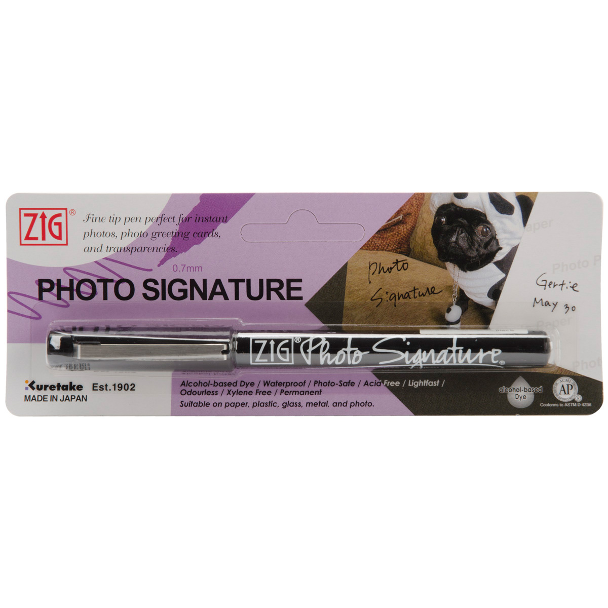 Zig Photo Signature Marker (Packaged) Black
