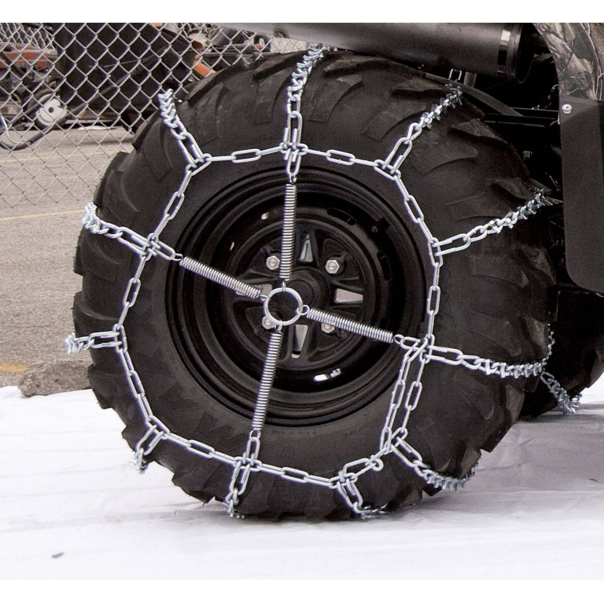 Atv V-Bar Tire Chains, 25X8X12, 4 Link Spacing by Peerless Chain Company