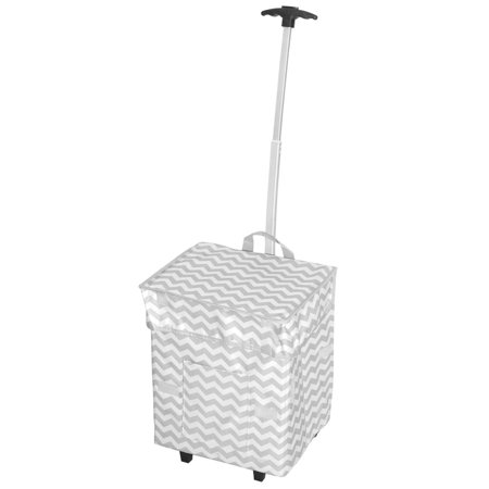 Dbest Products Inc As Seen On Tv Chevron Trendy Smart Cart Rolling Shopper Tote