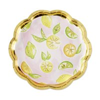 Cheery and Chic Citrus Paper Party Plates, 8ct, Great for Birthdays and Easter!
