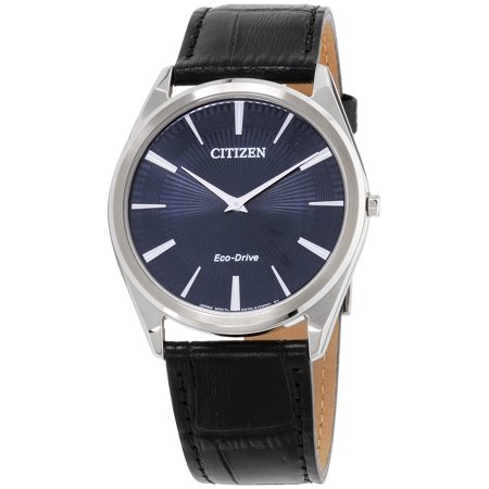 Citizen Stiletto Blue Dial Leather Strap Men's Watch AR3070-04L (Stiletto Citizen Watch)