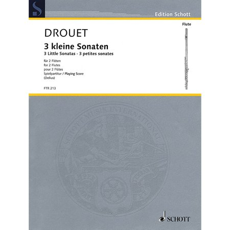 Hal Leonard 3 Little Sonatas (Performance Score) Schott Series Softcover Composed by Louis Drouet