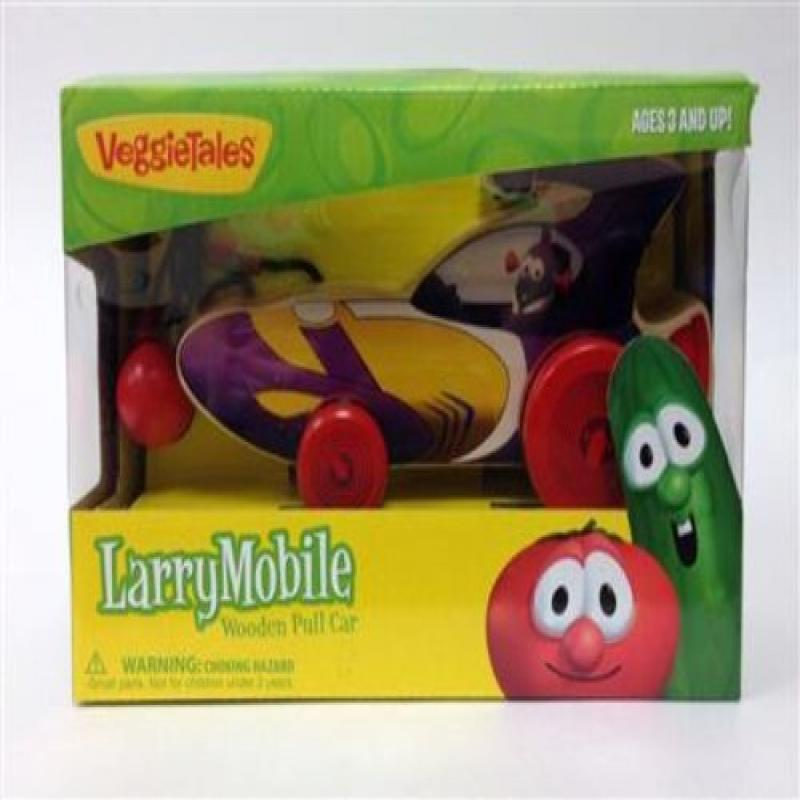 Veggie Tales Larry Boy Larry Mobile Wooden Pull Car (00514) by