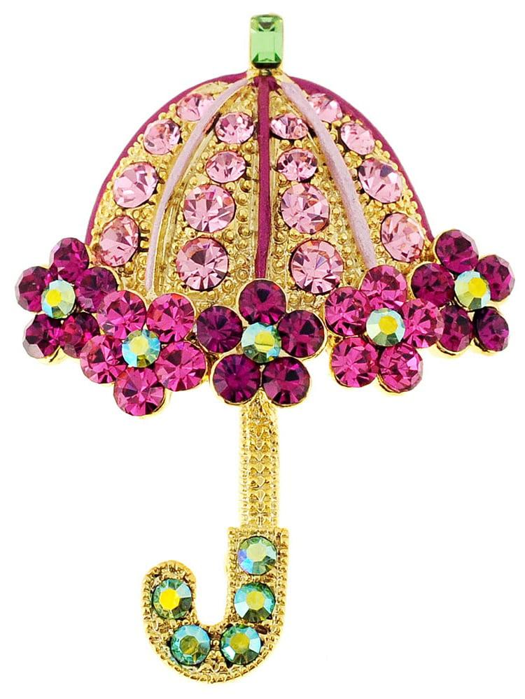 Fantasyard Pink Crystal Cat Pin Brooch