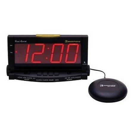 Clarity WakeAssure Amplified Alarm Clock and Bed Shaker with Lamp Flasher (Lamp Alarm Clock)