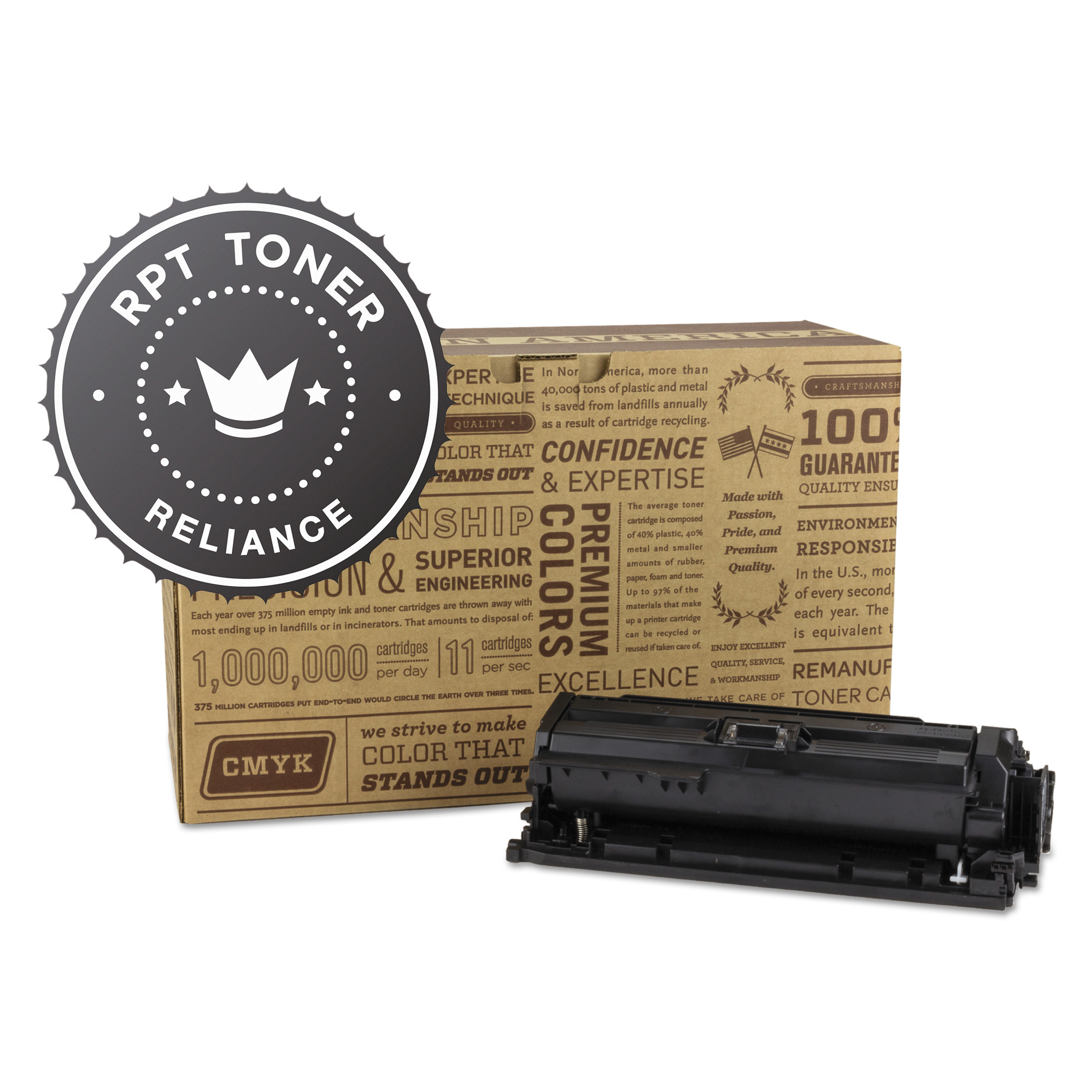 Reliance Remanufactured CE250X (504X) High-Yield Toner, Black