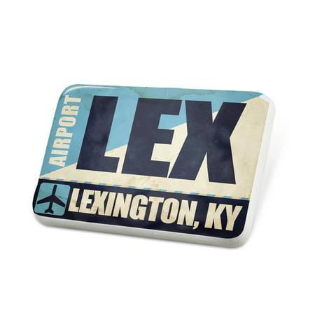 Party Supplies Lexington Ky (Porcelein Pin Airportcode LEX Lexington, KY Lapel Badge –)