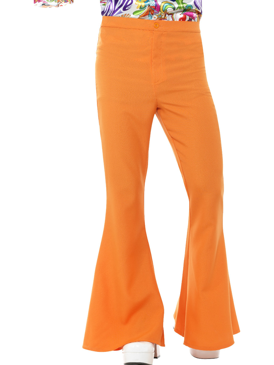 Women/'s Green 70s Flared Groovy Disco Pants Costume Small-Medium 6-12