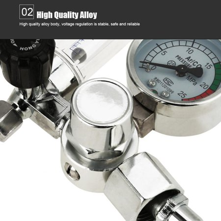 Ejoyous Pressure Regulator, Air Pressure Regulator,0-25MPa Argon Flow Meter Pressure Regulator Gauge For Weld Mig Tig Welding - image 2 of 9