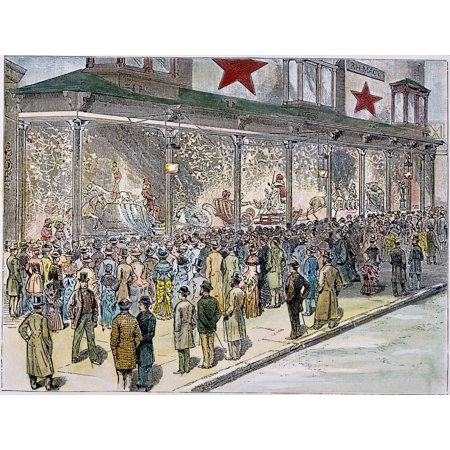 New York Christmas Windows (Crowds At MacyS 1884 Ncrowds Outside RH Macy & Company At Sixth Avenue And 14Th Street In New York Viewing The Spectacularly Decorated Windows At The Height Of The Christmas Shopping Season American E)