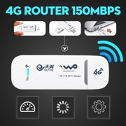 4G LTE Mobile WiFi Router Hotspot Wireless USB Dongle Mobile Broadband Modem For Car Home Mobile Travel Camping, 150Mbps Modem B1/B3(without SIM Card)