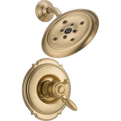 Delta Victorian Dual Function Pressure Balanced Shower Trim with H2Okinetic and Integrated Volume Control Less Rough-in, Available in Various Colors