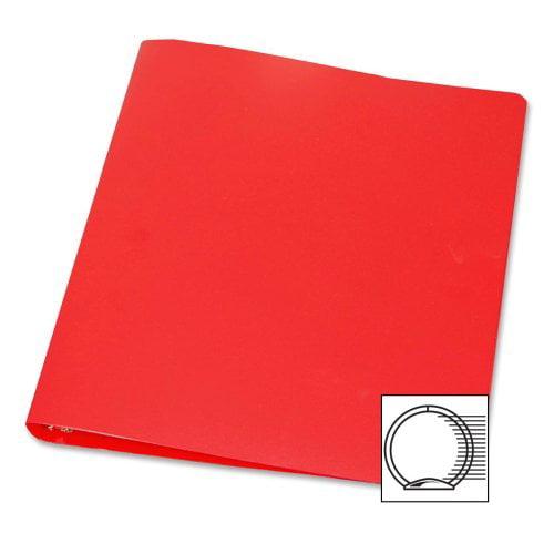 "Samsill 28-gauge Poly 3-ring Binder - Letter - 8.50"" X 11"" - 3 X Round Ring Fastener - 1"" Binder Fastener Capacity - Poly - Red - 1 / Each (SAM10303)"