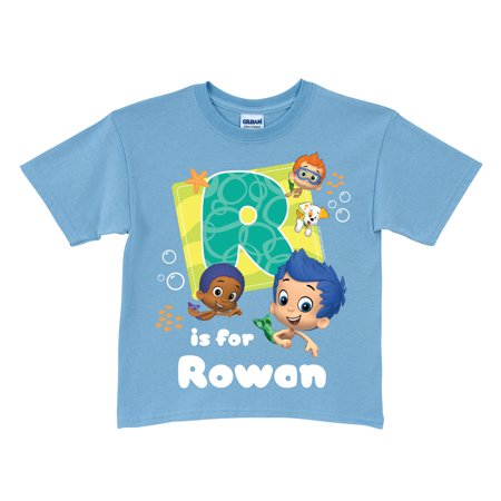 Personalized Bubble Guppies Initial Blue T-Shirt (Bubble Guppies Dress)