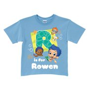 Personalized Bubble Guppies Initial Blue T Shirt