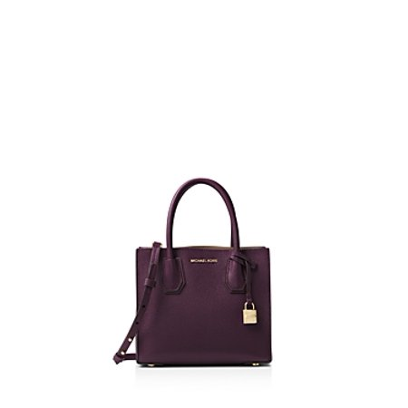 meet enjoy clearance price attractive fashion Michael Michael Kors Mercer Leather Crossbody Bag - Purple