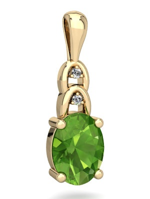 Peridot Links Pendant in 14K Yellow Gold by