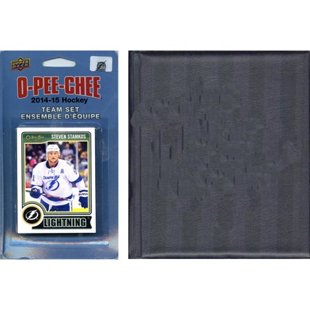 C&I Collectables NHL Tampa Bay Lightning 2014 O-Pee-Chee Team Set and Storage Album (Tampa Costume Stores)