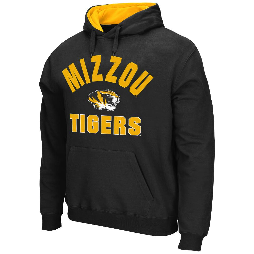 Mens NCAA Missouri Tigers Pull-over Hoodie (Black) by Colosseum