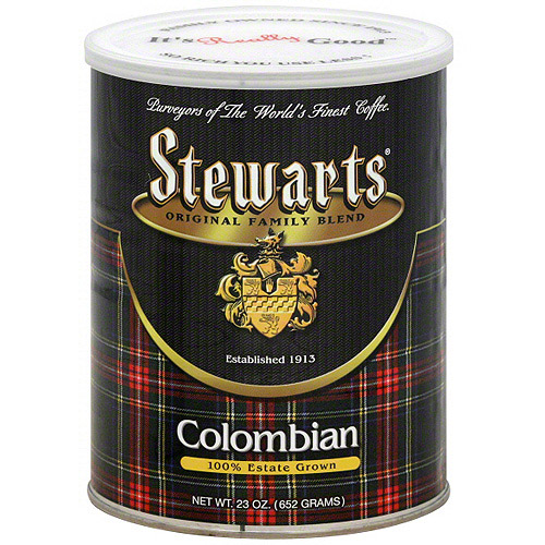 Stewarts: Colombian Coffee Grounds, 6 Pk (Pack of 6)