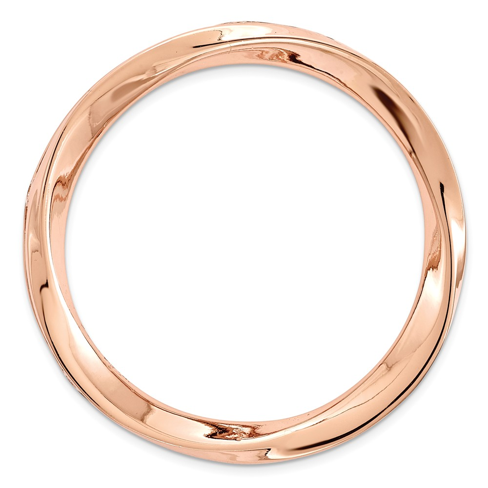 Sterling Silver Stackable Expressions Rose-tone Large Polished Chain Slide Size-
