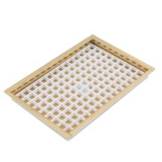 "8 1 8"" Flanged Mount Drip Tray Brass Finish With Drain"