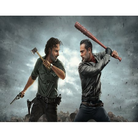 The Walking Dead Negan and Rick Edible Frosting Image Cake Topper (Halloween Cake Walk Printable)