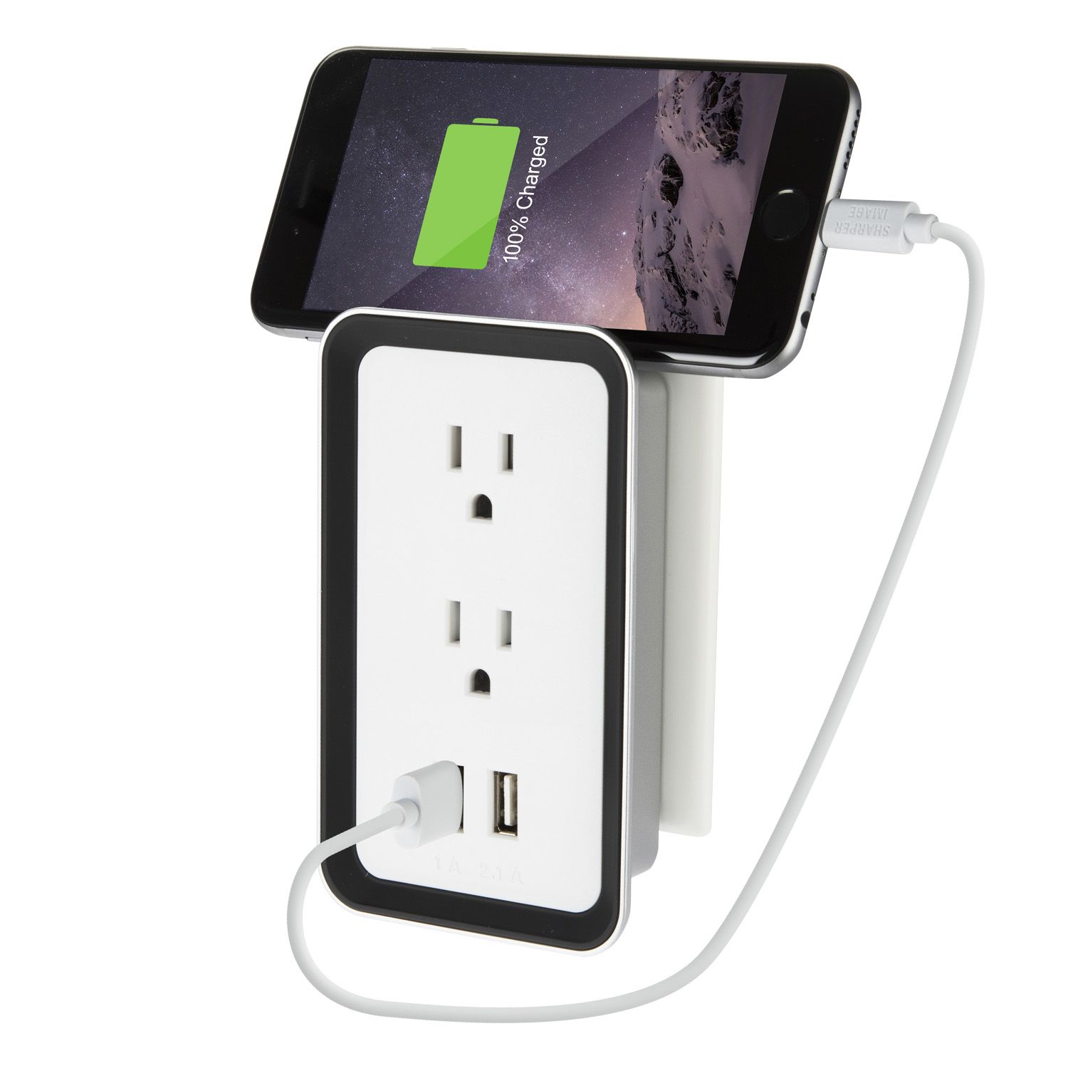 Sharper Image Plate Power Usb Wall Plate Charger 2 Pack Walmartcom