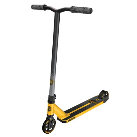 MADD GEAR – CARVE ELITE – Gold/Black – Suits Boys & Girls Ages 8+ - Max Rider Weight 220lbs – 3 Year Manufacturer's Warranty – World's #1 Pro Scooter Brand – Built to Last! Madd Gear Est. 2002 ()